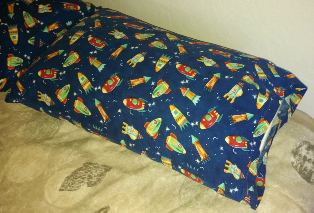 Rocketship Pillow Case