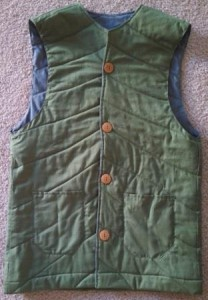 The finished vest.