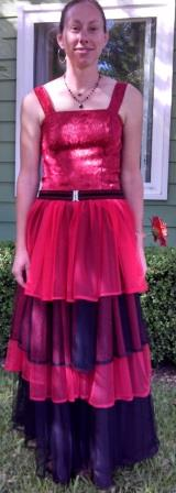 The final dress. Taken in the front yard, of course.