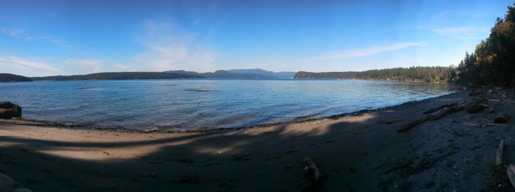 The view from a random beach on Lopez island