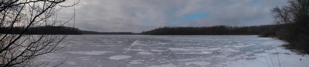The frozen lake by the elderberry patch