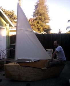 Sailing on the driveway!