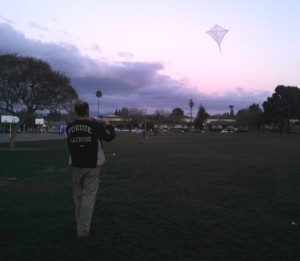 Go out and launch the kite. Have fun.  Remember NO powerlines or lightning storms.