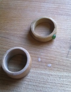 Then you need to finish the ring, I usually use 2 coats of lacquer or just mineral oil.