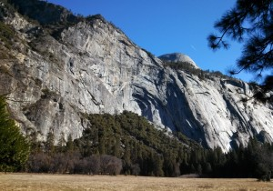 North Dome From Yosemite Valley.