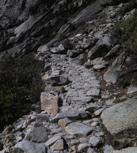 Our path was like cobblestones at a 30 degree angle, very wierd. The rangers here must work 24/7 keeping this trail up during the runoff season.