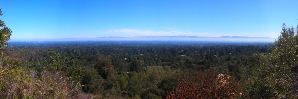 The view from the boringly named lookout point was rather pretty of San Jose from the west.
