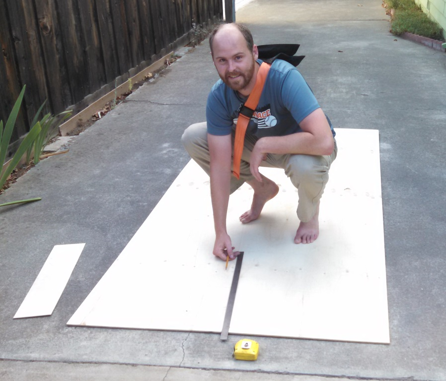 Step 1 is measuring out and cutting all of the plywood skins.
