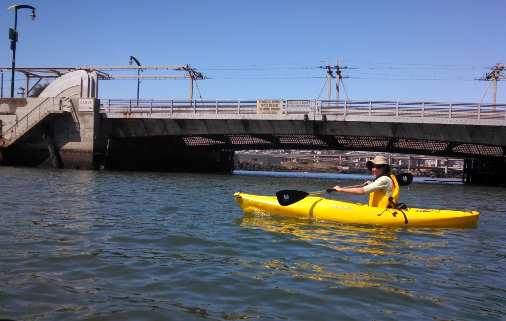 The is the 3rd street bridge in the first part of our kayak.