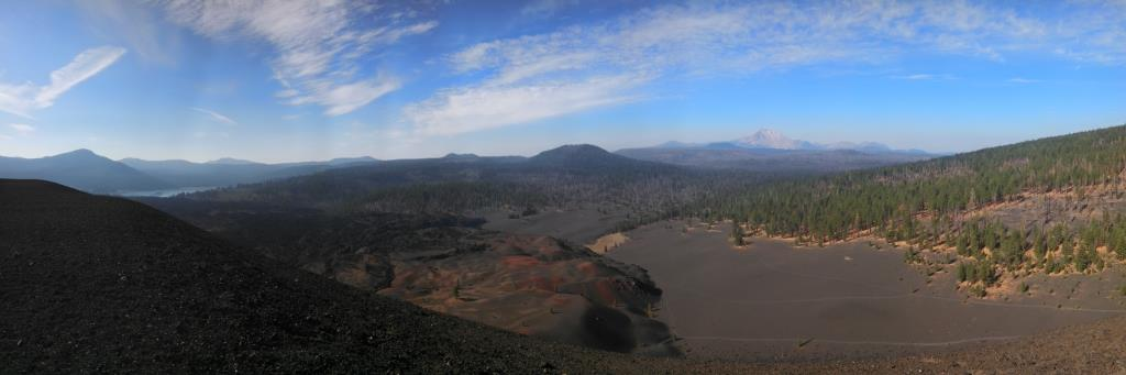 The view from the top of the Cinder cone was quite majestic and made up for the hike up 500 ft of ashy rock