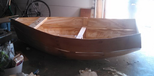 The boat all built just waiting for a paintjob.