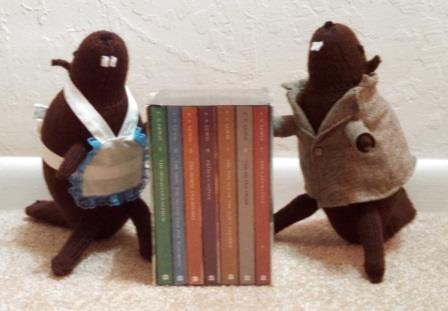 Mr. and Mrs. Beaver show casing the Narnia series. Sorry for the slight blurriness.