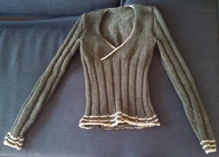 The finished sweater.