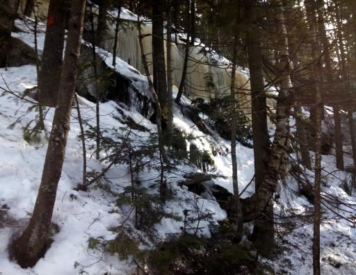 The ice waterfalls where we turned around.