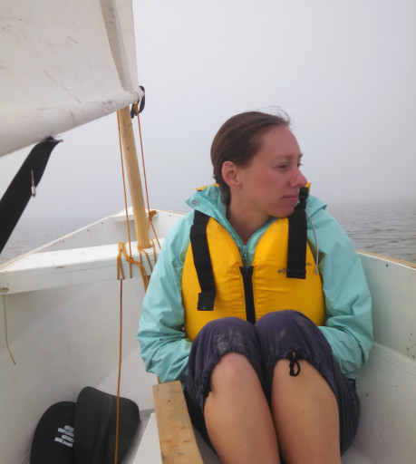 We had to head in a little early than planned, as you can see it got a little foggy. We could only see 30 ft, and we actually sailed for about 10 minutes from when the fog rolled in till we made it close enough to see the shore again.