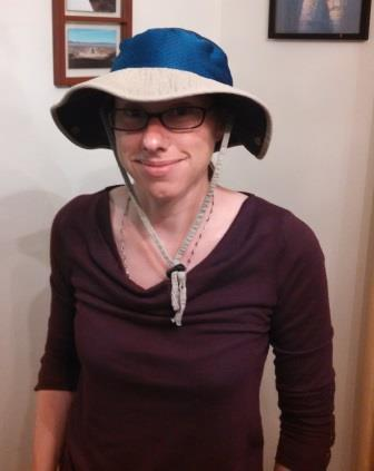 The finished product; it's still a silly hat, but a much cooler silly hat.
