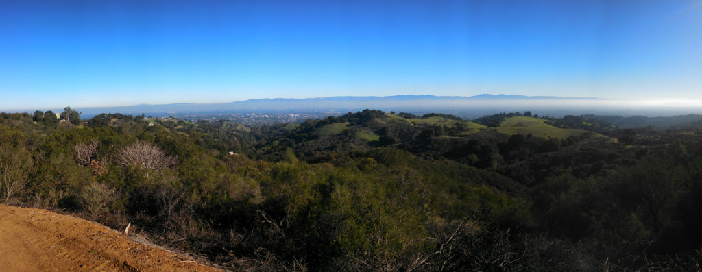 On a clear day you get a nice view of all of the southbay from the open space.