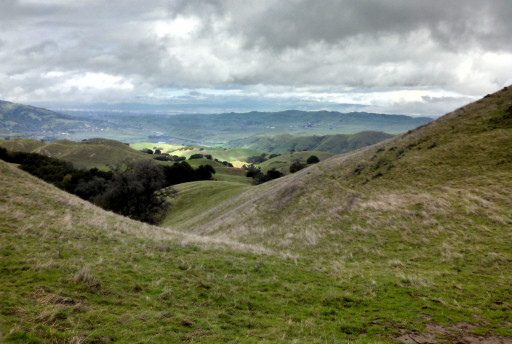 When you hike a little further you get some awesome views of the open hills beyond.