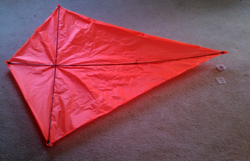 This is the earliest picture I have for the kite. Its a little wrinkly as I didn't trim the fabric very well.