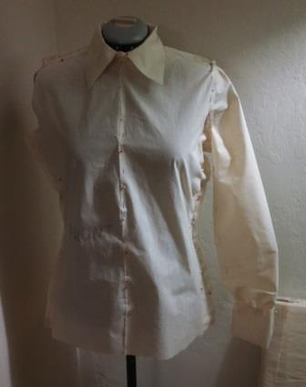 This is the muslin pattern that I made.