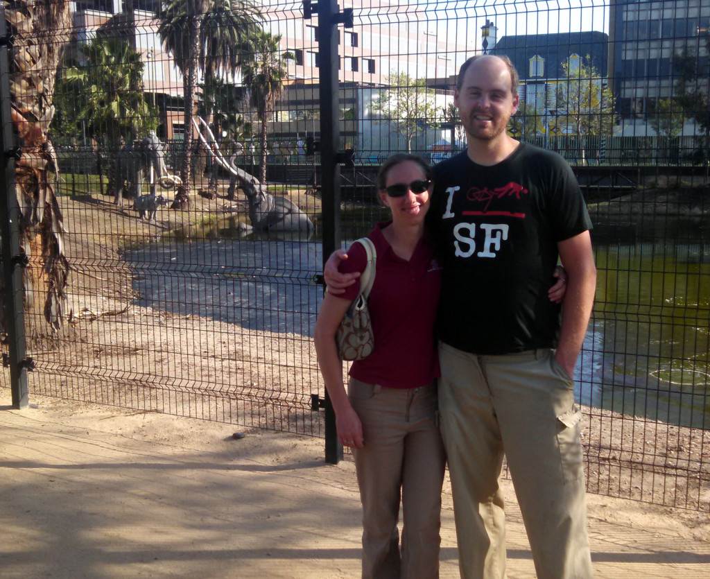 We just had to do the tourist picture in front of the tar pits.