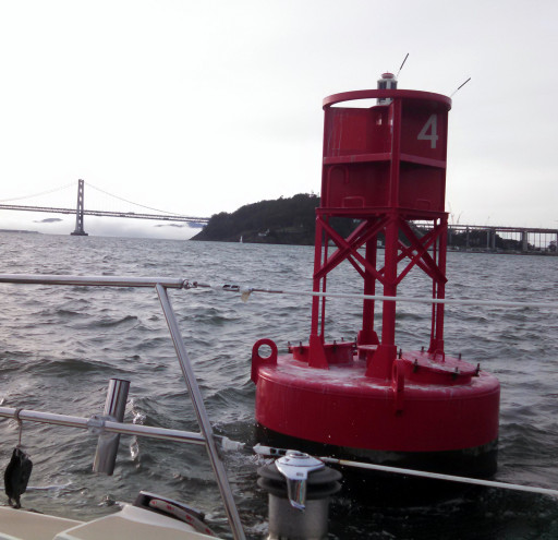 We missed 3 buoys by about a total of 20 ft. I was at the helm for only one of them.