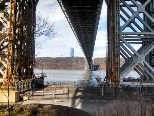 George Washington Bridge from below. We had to do a bit of urban exploration to get this view.