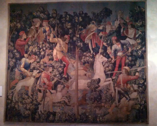 And the obligatory picture of one of the Unicorn tapestries. They are large but incredibly detailed when you get up close.