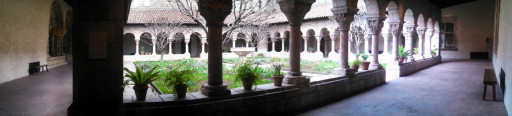 The interior courtyard gardens were very pretty in the Cloisters.