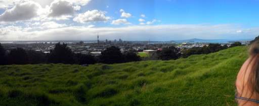 And a view to the north. The panorama looks a little weird because a cloud occluded the sun in the middle of the picture