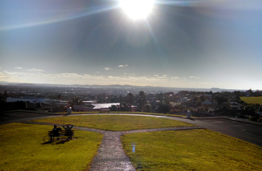 The view North from Totara Park. You can just see Auckland's CBD in the distance.