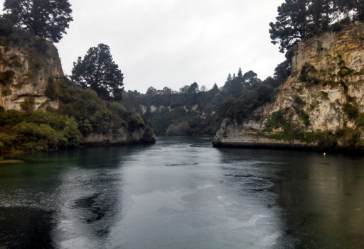 Waikato river. It has some pretty cliffs.