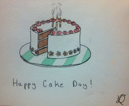 And a birthday cake, for when you can't meet someone in person to make a real cake.