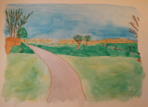 I'm moderately happy with the painting minus the path over the first hill.