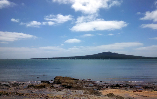 Rangitoto looms large over the Harbor. I can't imagine what it looked like a couple hundred years ago when it erupted.