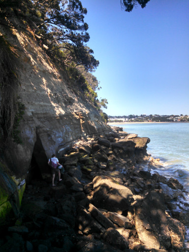 And we also got some cliff hiking in because this beach appears to have it all.