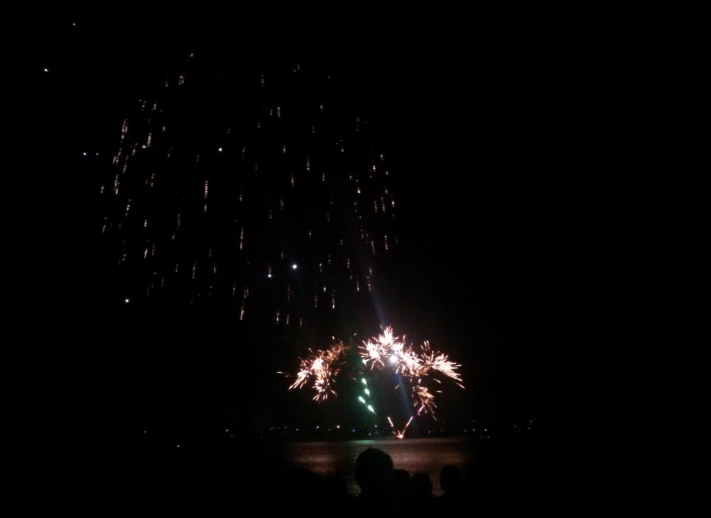 Fireworks show was cool and small but still one of the nicer ones that I have seen in a while.