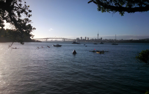 And the finish line after I got out of the water, quite a beautiful morning.