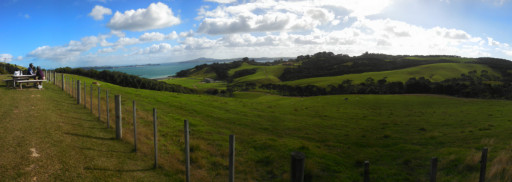 And another panoramic view looking east from Jurassic Ridge. Waiheke is nothing but Panoramic views.
