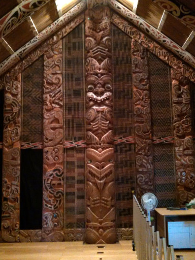 They had a whole house inside the museum. You had to take your shoes off first. My mother would get along well with the Maori by that standard.
