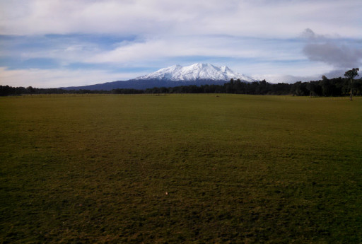 Ruapehu had a commanding view for a large portion of the trainride.