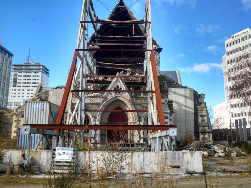 The Cathedral. This says a lot about Christchurch.