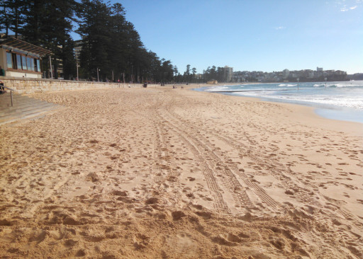 The Manly beach. It is both pretty and the exemplar of a beach town's beach