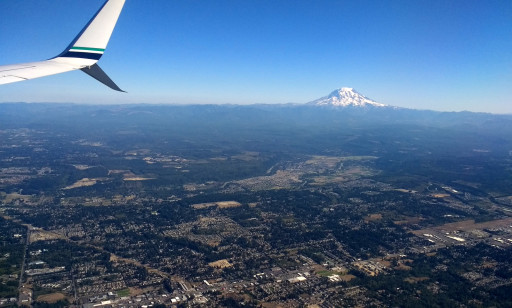 Obligatory Mt. Rainier shot on the flight in. It looms