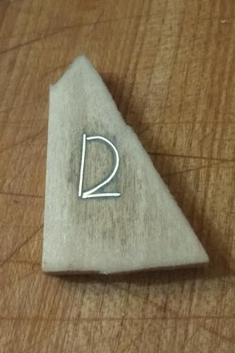 A practice monogram.
