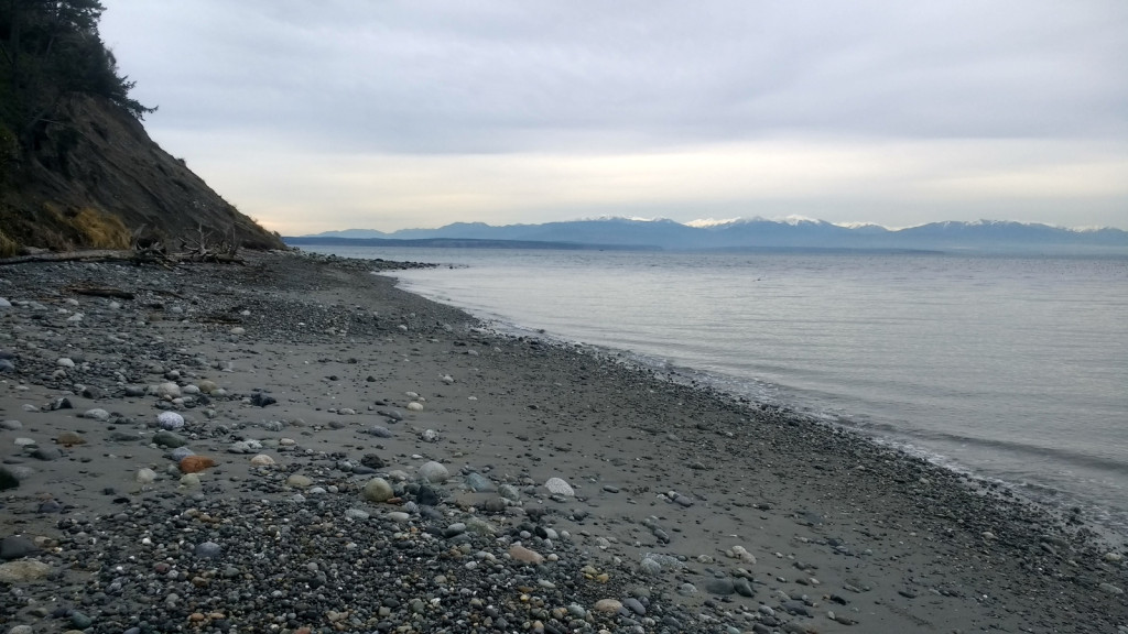 The beach at Fort Ebey. Every view on this beach was just yelling out for a panorama.