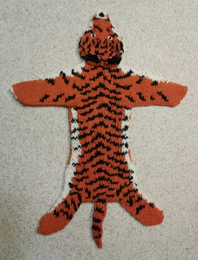 The completed tiger rug.