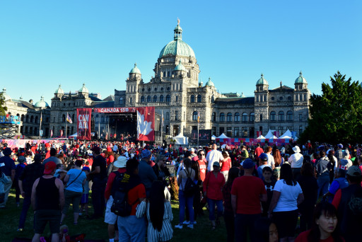 BC Legislature building wend all out with the Canada Day Festivities.  No Poutine pictures unfortunately.