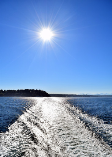 Leaving Vashon for the day.