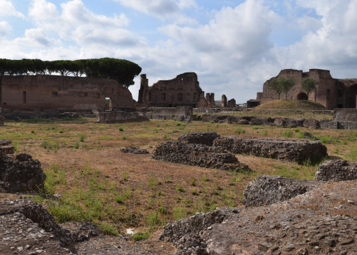 This is the largest building in Rome - The Palatine Palace. It was so unbelievably massive.